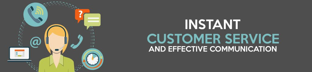 Instant Customer Service and Effective Communication, Social network for website