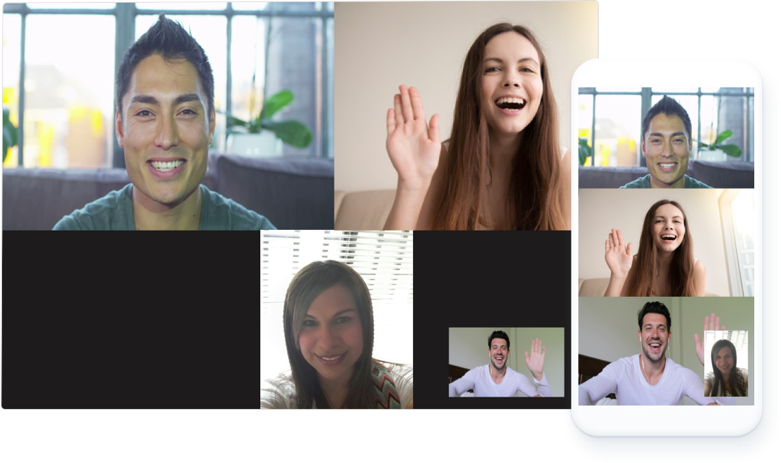 Allow multiple users to connect over video conferencing.