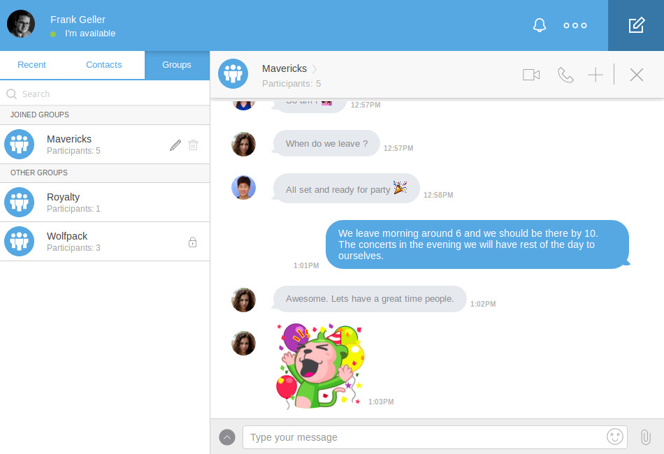 Real-time text chat allows users to communicate without any barriers