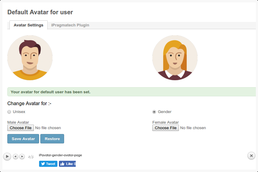 Admins can create custom avatars for their users