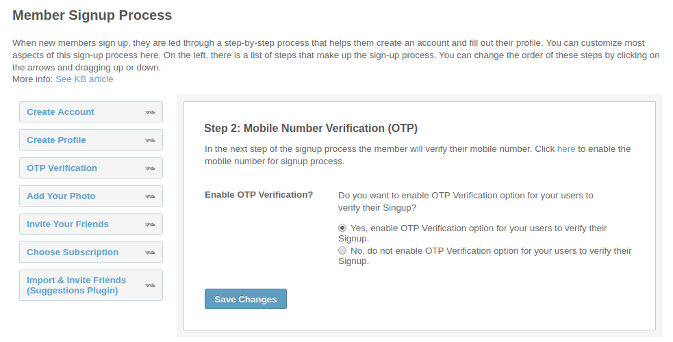 Allow users to login with a simple and secure OTP
