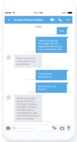 Buyers chat with Sellers in real-time using the text chat feature