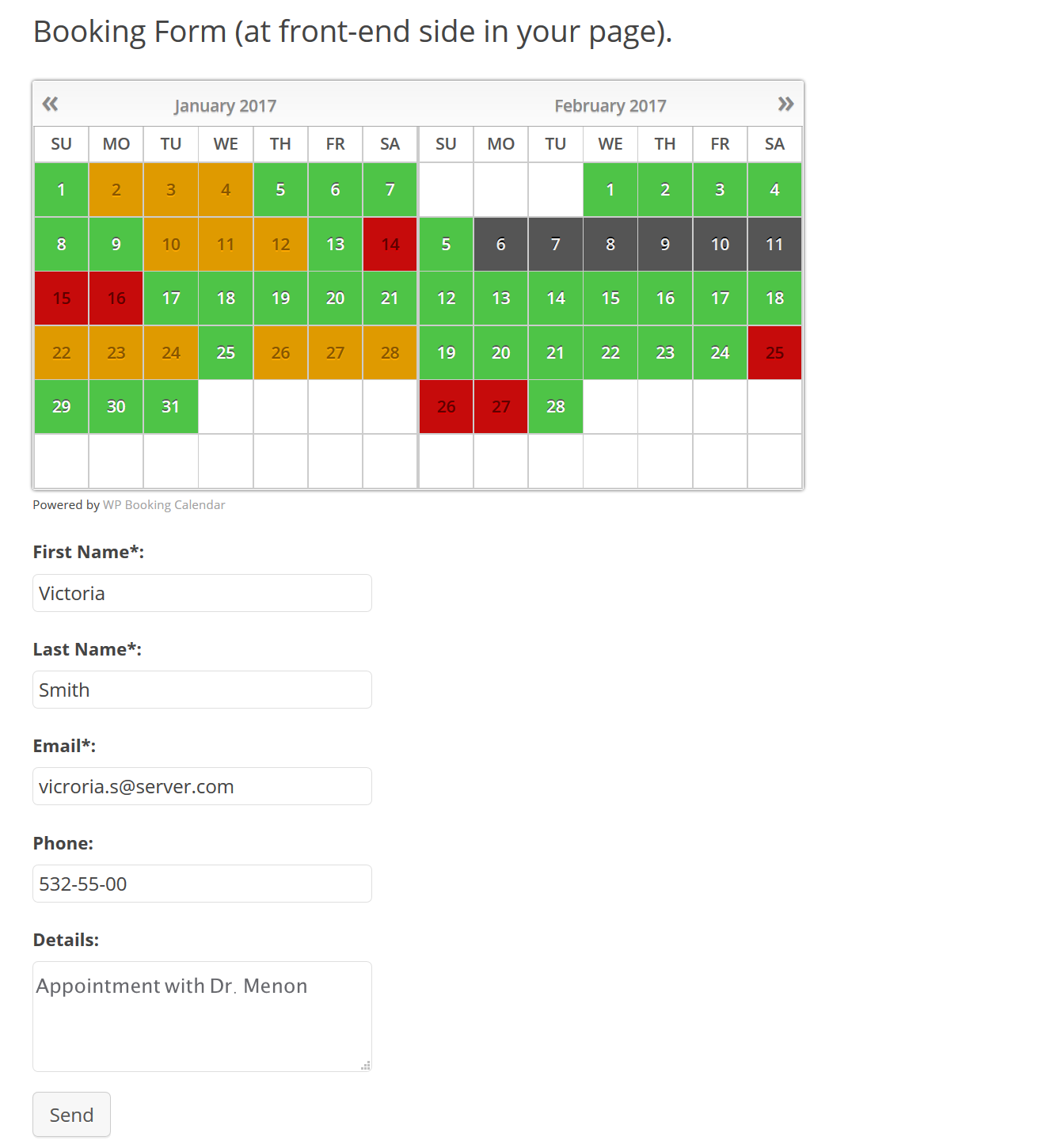 Allow patients to book slots to connect with experts using booking calendar