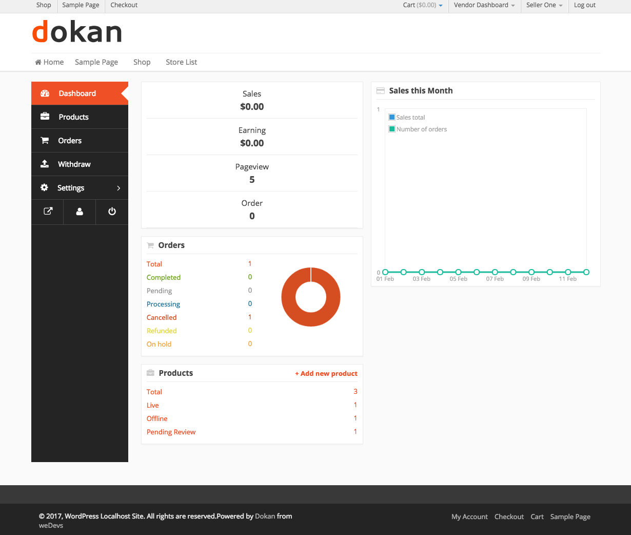 Calculate your earnings and commissions on every product with dokan