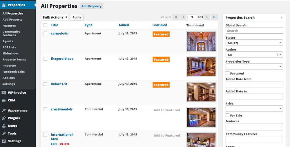 Create and manage customized real estate listings.