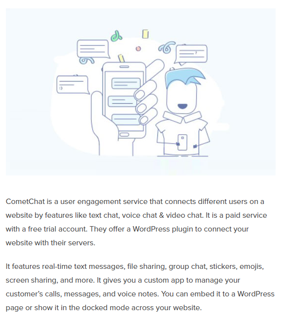 CometChat featured in the top voice chat plugins list by WPBeginner