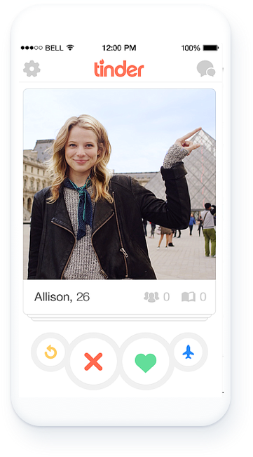 Tinder uses allows its users to engage with one another.