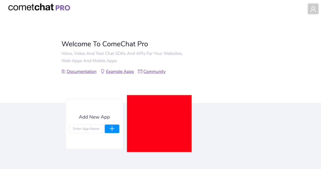 CometChat Pro dashboard