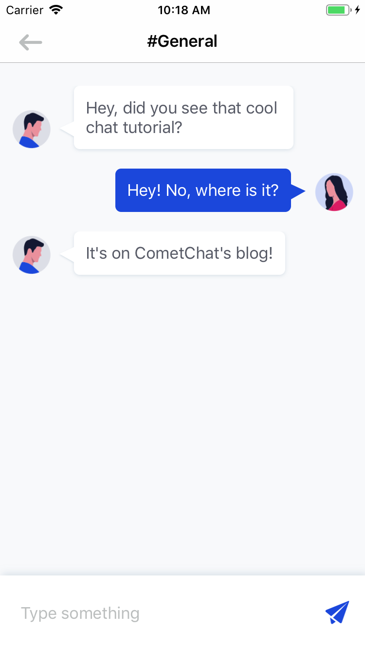 Your first chat messages!