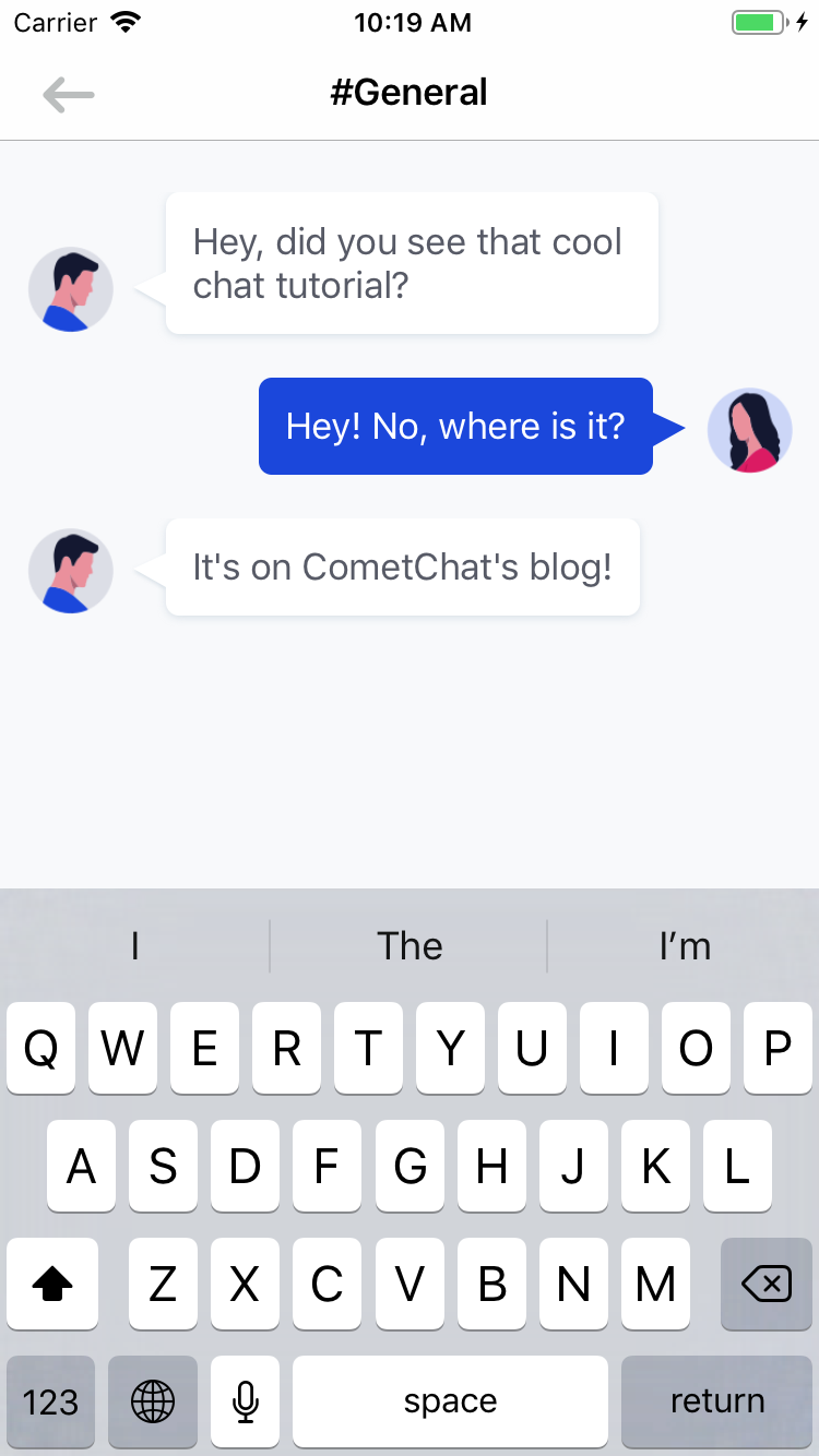 The keyboard appears over the text view and the table view. We can't have that.